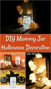 How to turn mason jar lights into mummy lanterns