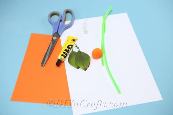 Supplies needed for making a diy gift box