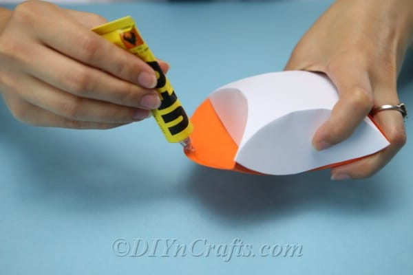 Gluing a treat box together
