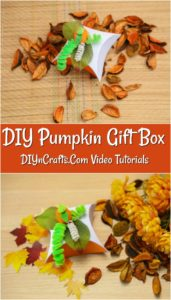 How to make a DIY gift box that is pumpkin themed