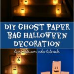 How to make luminary bags into fun Halloween ghost decorations