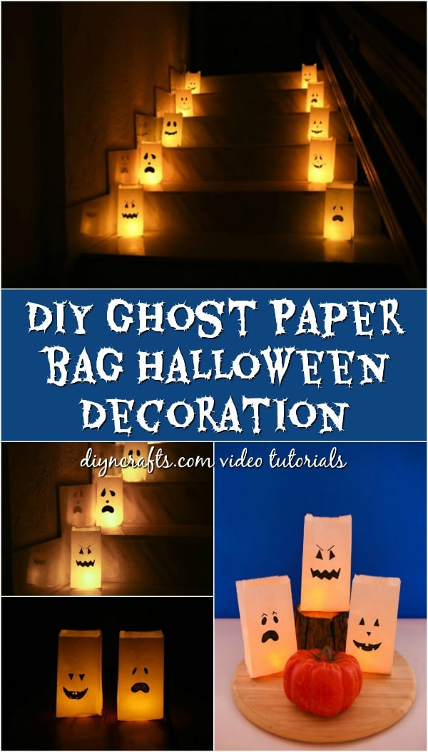 Diy Ghost Luminary Bags Decoration Crafts
