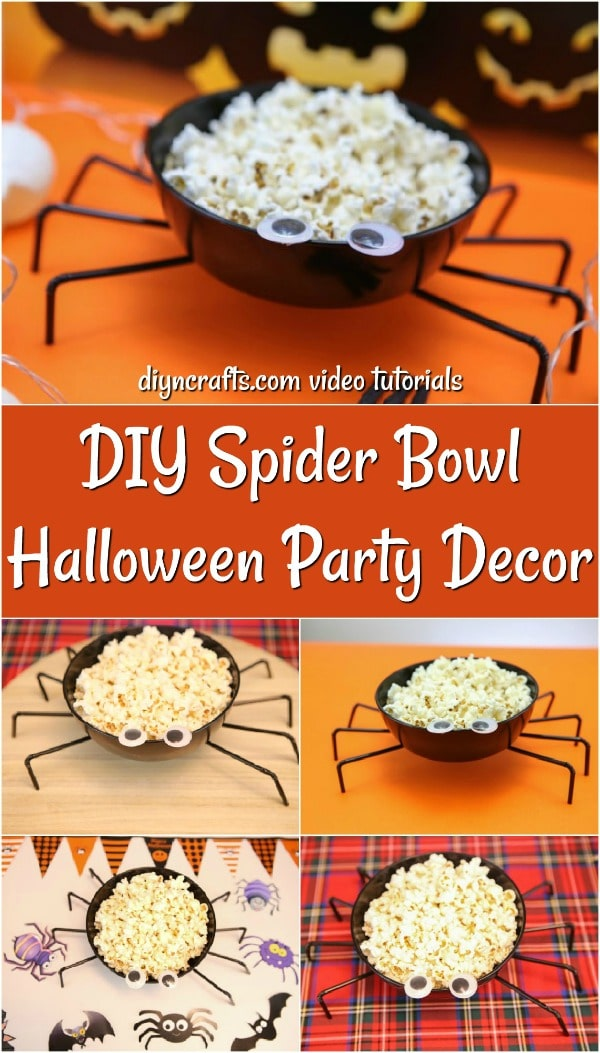 How to make a Halloween spider bowl for serving popcorn at your party