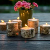 20 pieces of Wooden Candle Holders
