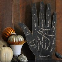 Palm Reading Halloween Decor Psychic Reading Decoration