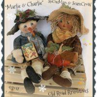 Primitive Snowman Scarecrow Pattern Marlie and Charlie Snowman