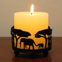 Handmade Elephant Candle Holder