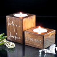 Personalized Wooden Tea Light Holder