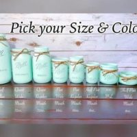 Custom Painted Mason Jars