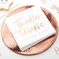 Rose Gold Baby Shower Napkins