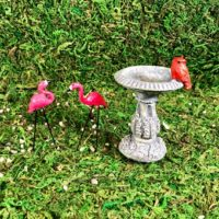 Miniature Flamingo Lawn Ornaments (Set of 2)