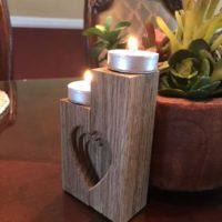 Tea light candle holder.