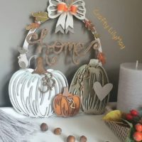 Pumpkin wreath plaque