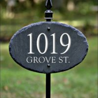 SLATE ADDRESS MARKER Sign