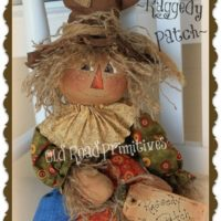 Primitive Scarecrow Pattern Raggedy Patch Fall Halloween