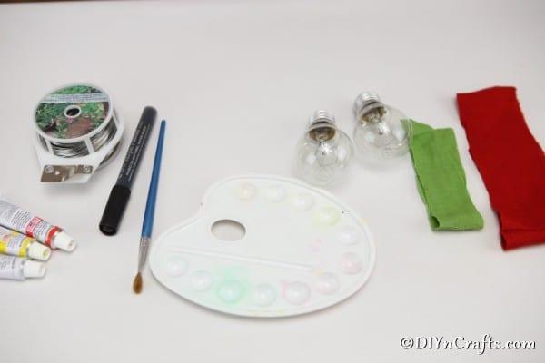 Supplies for halloween decorative lightbulbs