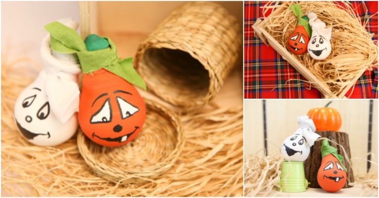 How to make painted decorative light bulbs for Halloween