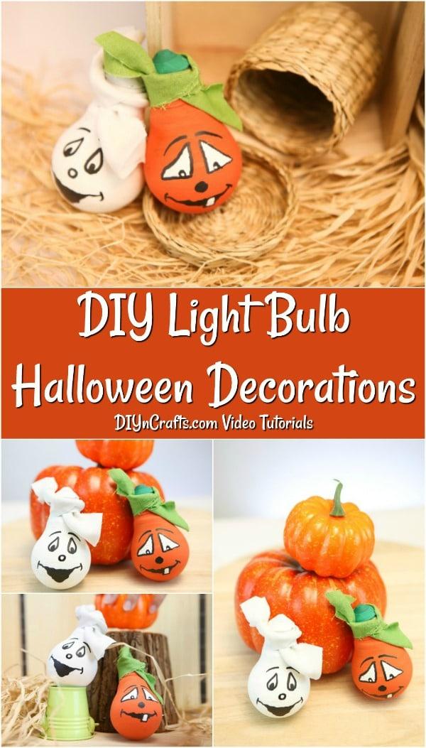 How to make Halloween Decorative Light Bulbs for table decor