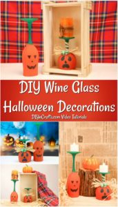 Learn how to make unique painted pumpkin art from a wine glass