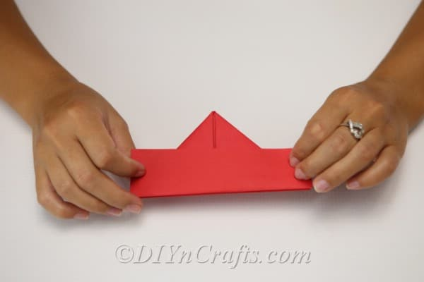 The folded paper hat for your scarecrow craft