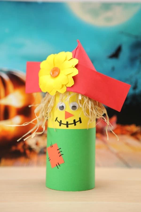 Easy DIY Paper Scarecrow Kids Craft