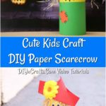 Learn how to make a paper scarecrow craft as a cute kids craft
