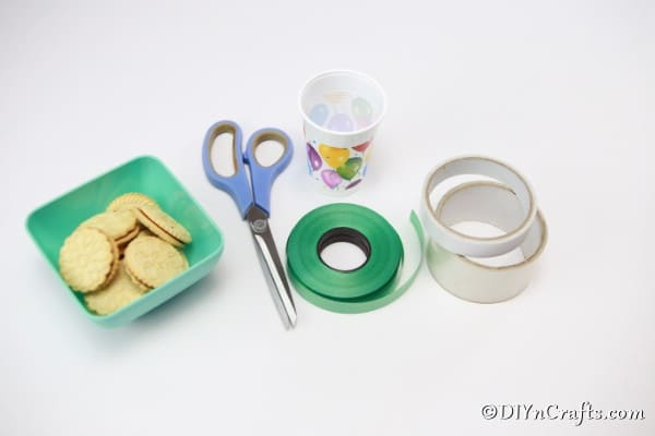 Supplies for making plastic cup cookies box