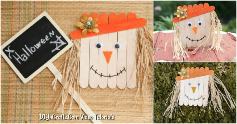 How to make a scarecrow from craft sticks photo tutorial