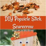 How to make a scarecrow out of popsicle sticks and glue