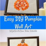 Learn how to make a diy button art craft into a beautiful framed button pumpkin