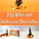 Learn how to make a witch hat as halloween decorations