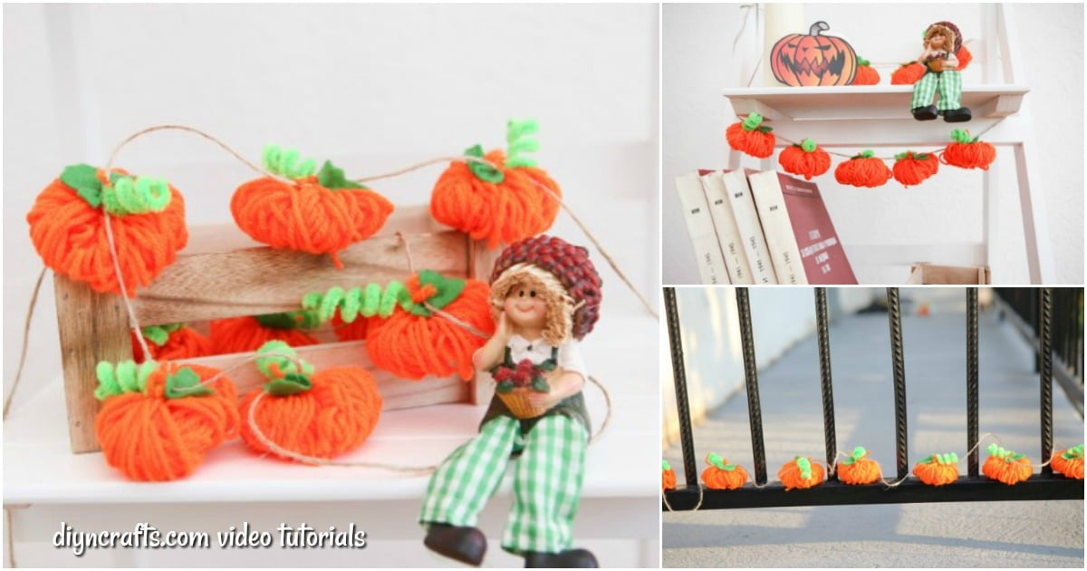 Diy Fall Decor Yarn Pumpkin Garland Video Diy Crafts