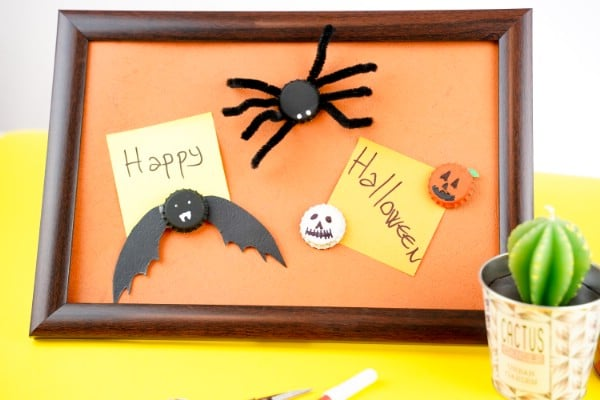 Spooky Fun Bat and Spider Magnets Halloween Craft