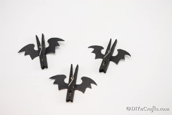 Completed bat clothespin craft