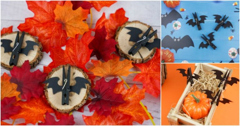 Small collage image of a clothespin halloween bat