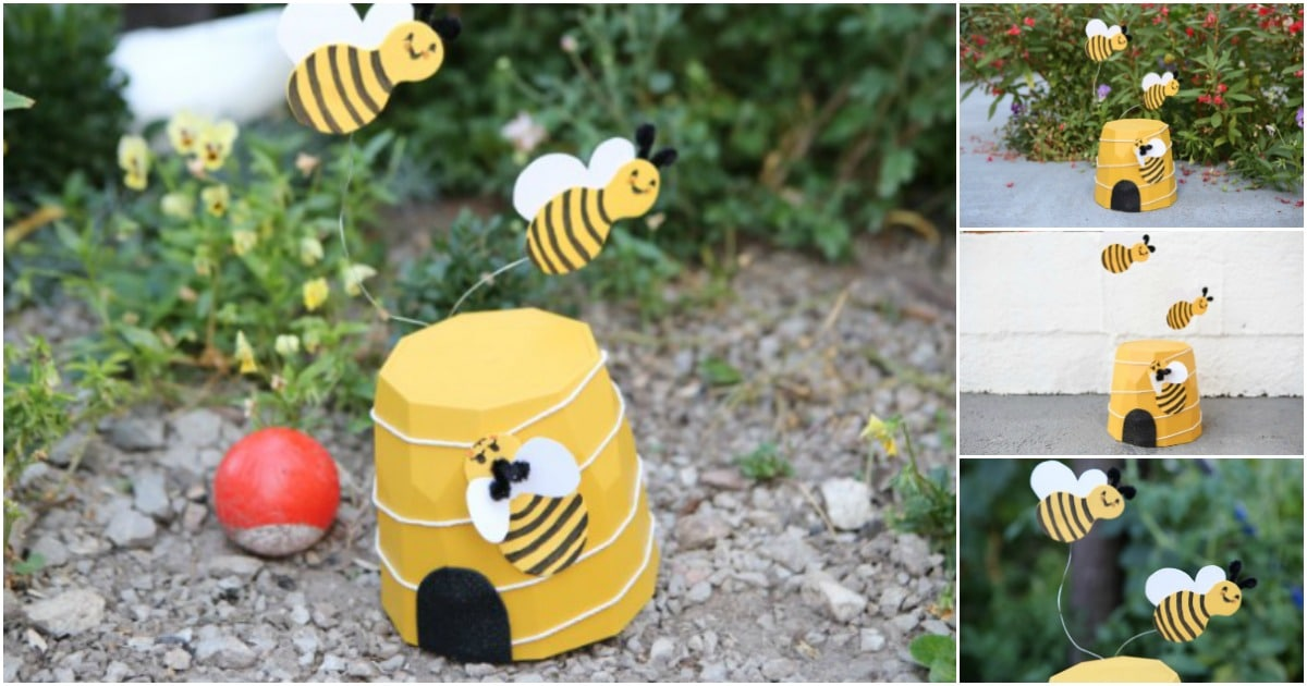 Flower Planter Bee Decoration for the Garden - DIY & Crafts