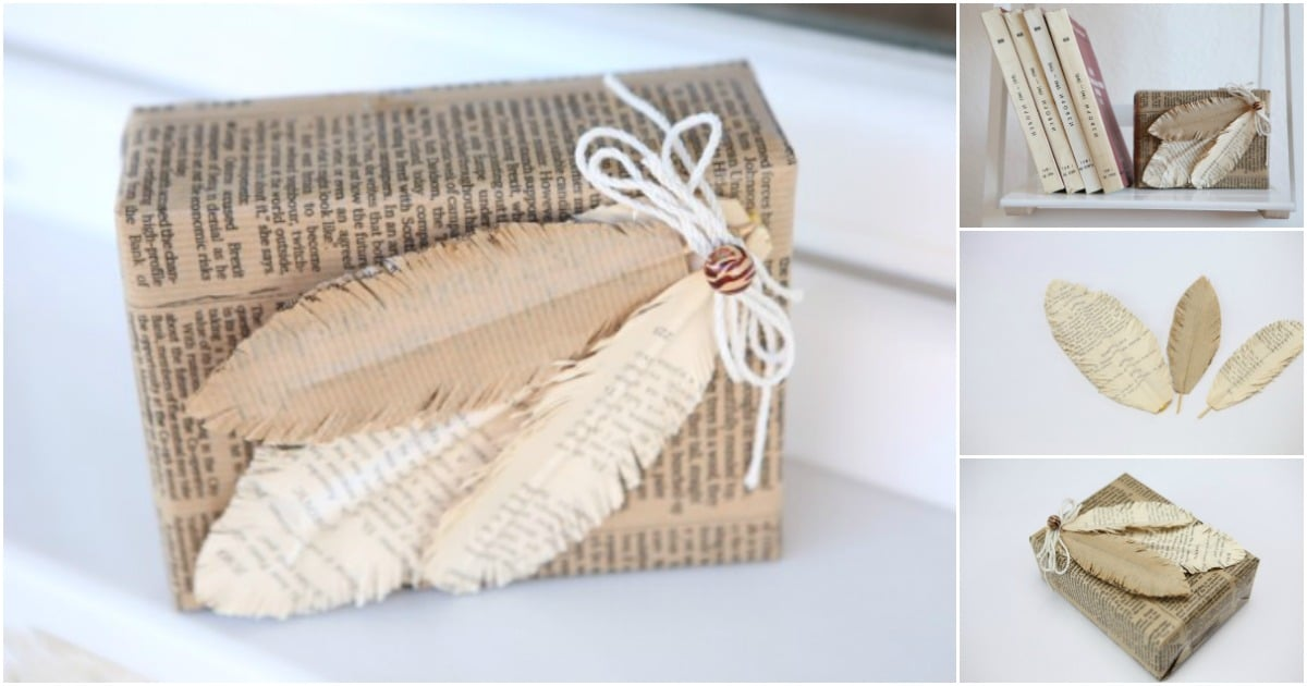 How To Make Decorative Feathers From Old Books Diy Amp Crafts