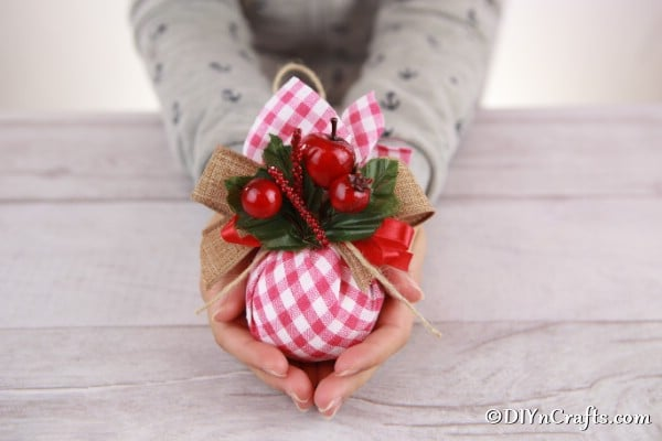 Cute Checkered Fabric Christmas Tree Ornaments