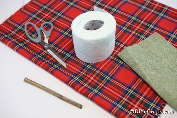 Supplies for making a fabric pumpkin
