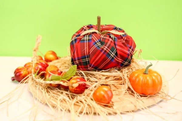 DIY Fabric Pumpkin Fall Decor