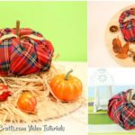 Small collage image of fabric pumpkin