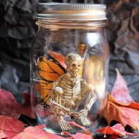 Halloween Skeleton Fairy in a Jar