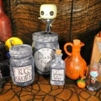 Nightmare before Christmas jars