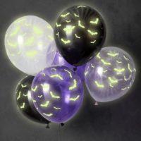 Glow In The Dark Bat Shaped Balloons