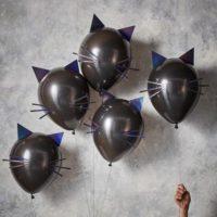 Black Cat Halloween Balloons