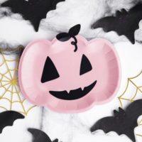 6 Pumpkin Halloween Party Plates