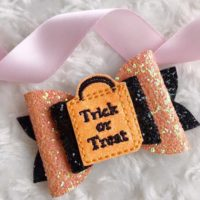 Trick Or Treat Hair Bow