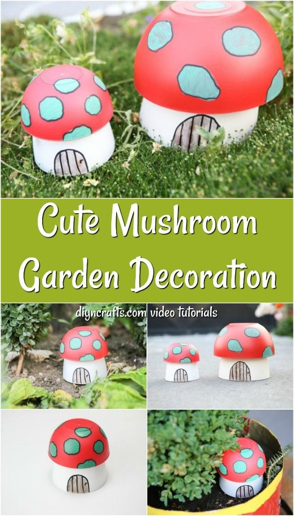 Adorable Painted Mushroom Planter Garden Decoration Diy Crafts