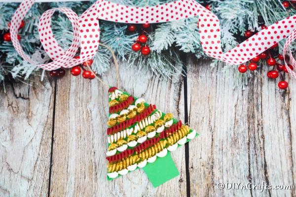 DIY Pasta Tree Christmas Decoration