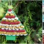 Small collage image of a pasta tree decoration